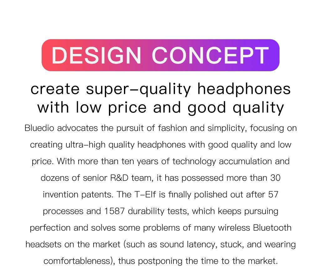 6 .Bluedio T-elf mini Earbuds TWS Bluetooth 5.0 PAKISTAN www.brandtech.pk