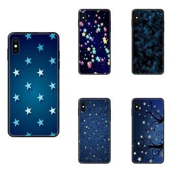 Для Galaxy Note 4 8 9 10 20 Plus Pro J6 J600 J7 J730 J8 J810 M30s M80s 2017 2018 художественные крутые синие звезды плавучие черные мягкие