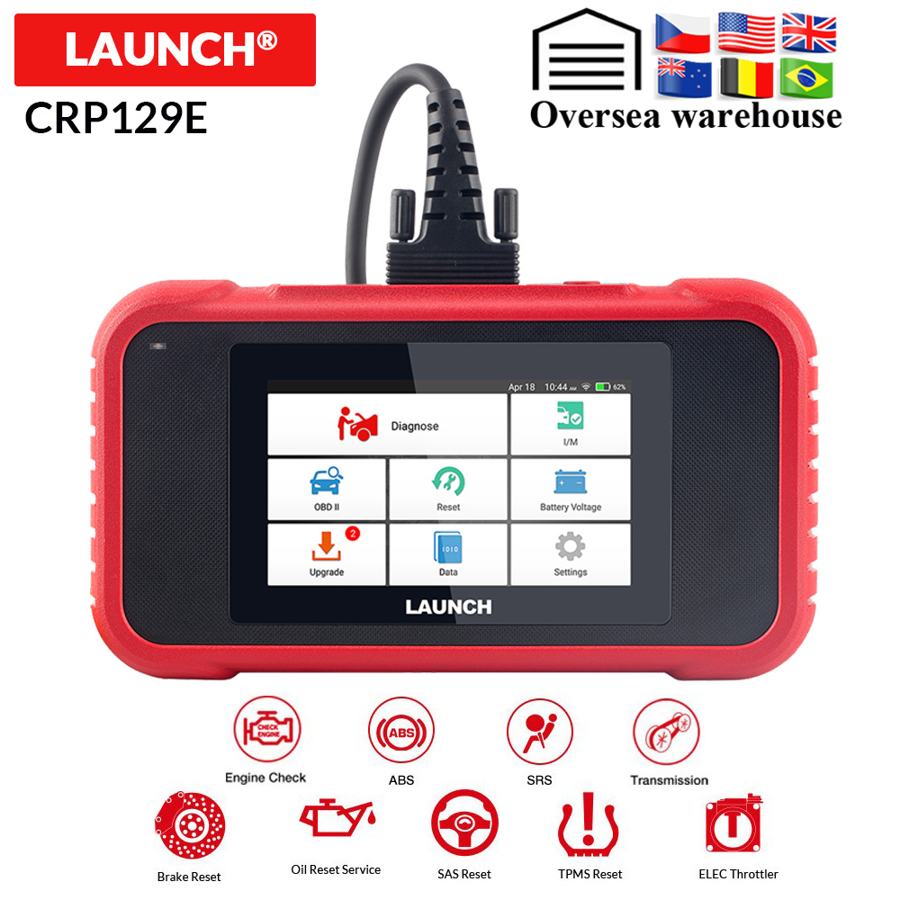 Launch X431 CRP129E CRP123E CRP129 CRP123 Creader VIII OBD2 diagnostic tool for ENG/AT/ABS/SRS Multi language free update on
