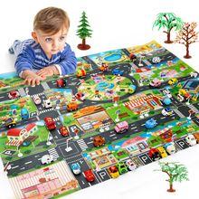 130*100 детский дорожный ковер с картой города китайские игрушки
