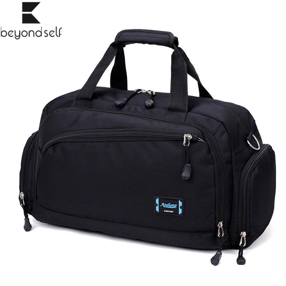 Spor çantaları erkek spor spor paketi silindir bir omuz spor çanta kadın çanta seyahat çantaları naylon su geçirmez çanta paketi