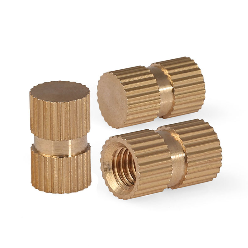 M4 Press-In Brass Copper Inserts Embedded Knurl Threaded Nuts Parts for Plastic
