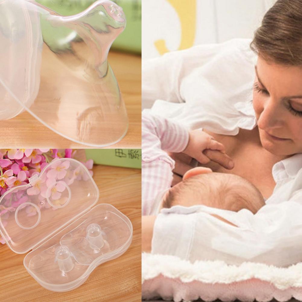 2 PCS Silicone Nipple Protectors Feeding Mothers Shields Nipple Protection Cover Breastfeeding Mother Milk Silicone Nipple
