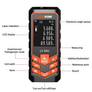 Image 2 - LOMVUM 66U Laser Rangefinder Digital Laser Tape Leveling Device 40M 80M 120M Ruler Instrument Build Measure Device Trena Laser