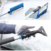Extendable Snow Shovel Ice Scraper Windshield Cleaner Winter Tool For The Car Auto SUV Snow Brush Water Remover Snow Scraper