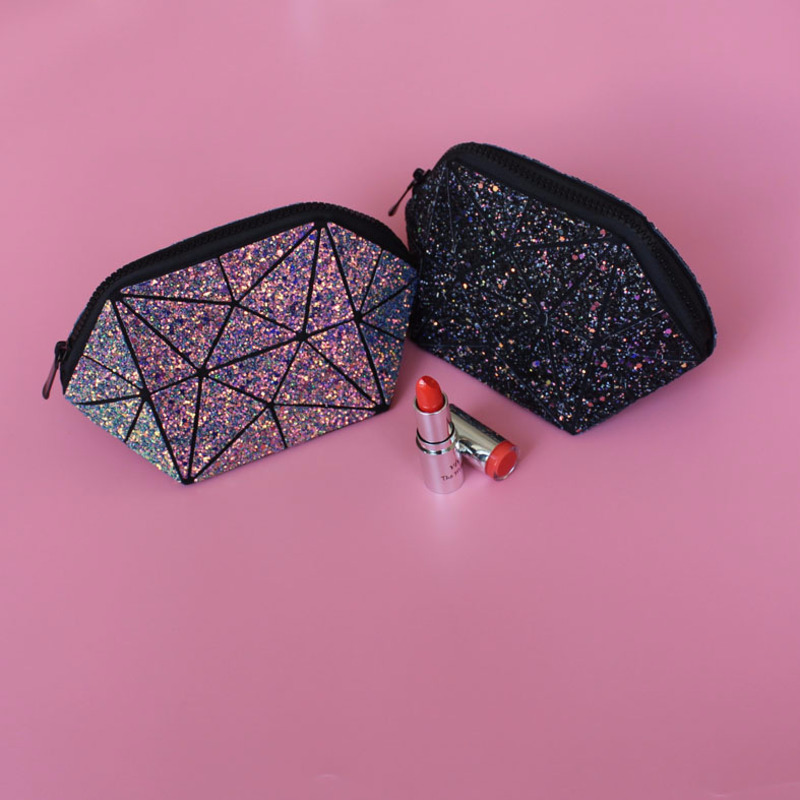 Sky Diamond Makeup Bag Handbag Galaxy Shiny Organizer Fashion Cosmetic Tool Multi-function With