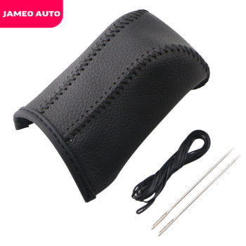 Jameo Auto Leather AT Gear Shift Collars Gear Shift Knob Cover for Toyota Corolla RAV4 2014 2015 2016 2017 2018 2019 Accessories image
