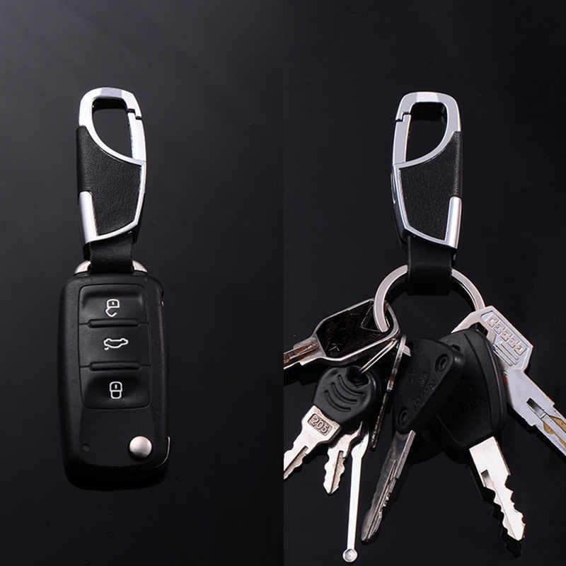 คุณภาพสูง 3D โลหะผสมหนัง Keyrings KeyChains สำหรับรถนวัตกรรมคีย์ Chains ผู้ถือแหวนสำหรับ BMW Audi Skoda Lada Opel renault