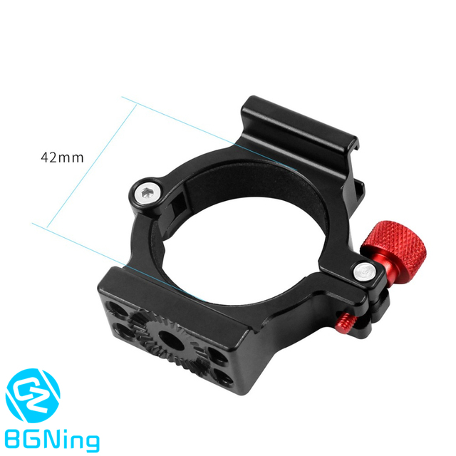 4 Ring Hot Shoe Adapter Ring Microphone Mount with Magic Arm Adapter for Zhiyun Smooth 4 Handheld Gimbal DSLR Camera Accessories