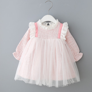 Image 1 - Baby Girls Dresses Lace Christmas Dress Wedding Party Ball Gown Children Clothing Kids Dresses For Girls 0 2Y