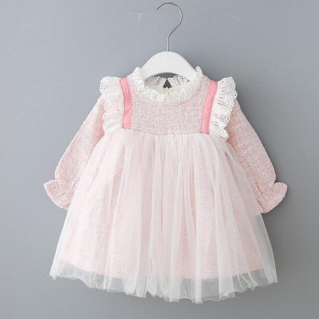 Bebek Kız Elbise Dantel Noel Elbise Düğün Parti Balo Çocuk Giyim Çocuklar Kızlar Için Elbiseler 0 2Y