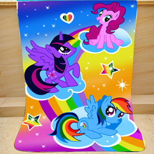 Cartoon my little pony Coral Fleece Plush Single Fall Blanket For Bed Sleeping Cover Bedding Unicorn Throw Blanket unicorn