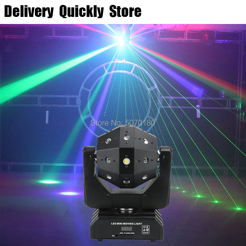 Powerful Unlimited Rotate Dj Laser Disco Led Strobe 3 IN 1 Moving Head Light Good Effect Use For Party KTV Night Club Bar
