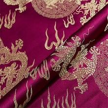 Китайская парча с изображением дракона шелковая жаккардовая ткань для винтажной традиционной одежды Cheongsam