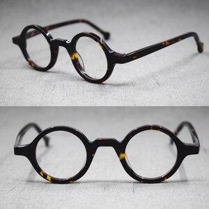 Image 2 - Lunettes rétro, petites montures de lunettes de style Vintage, rondes faites à la main, jante complète en acétate, Rx able