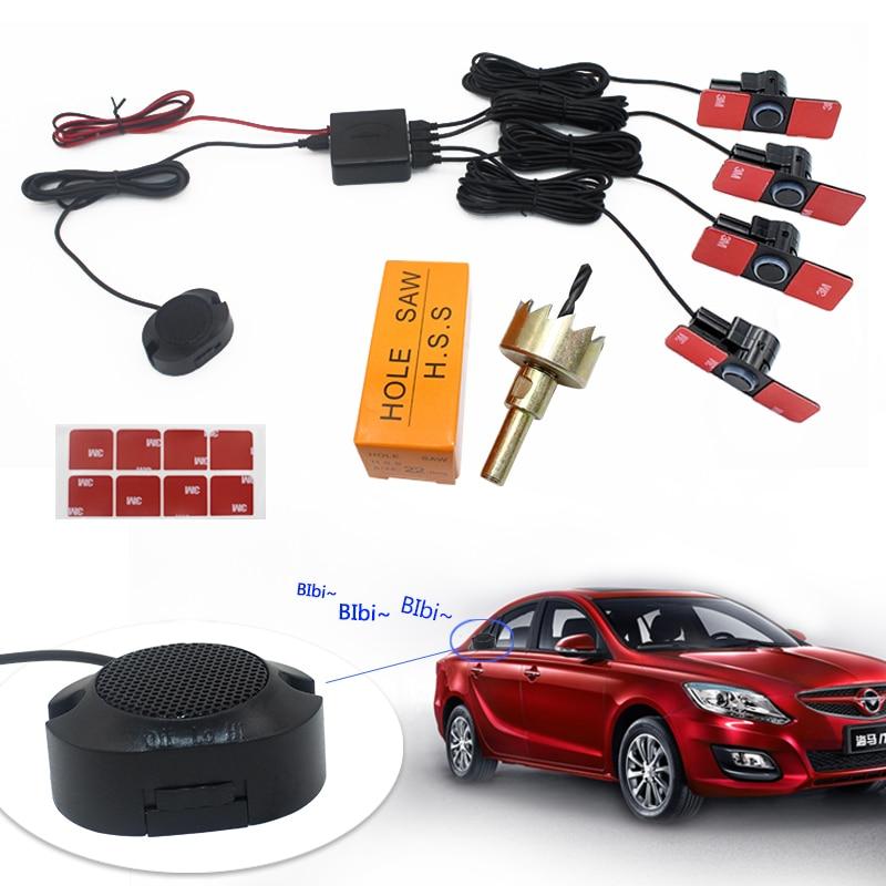 Auto Umkehr Radar Parktronic 12V 16,5mm Flache Parkplatz Sensor Hinten Parkplatz Sensoren System Summer Alarm Sound mit Schalter