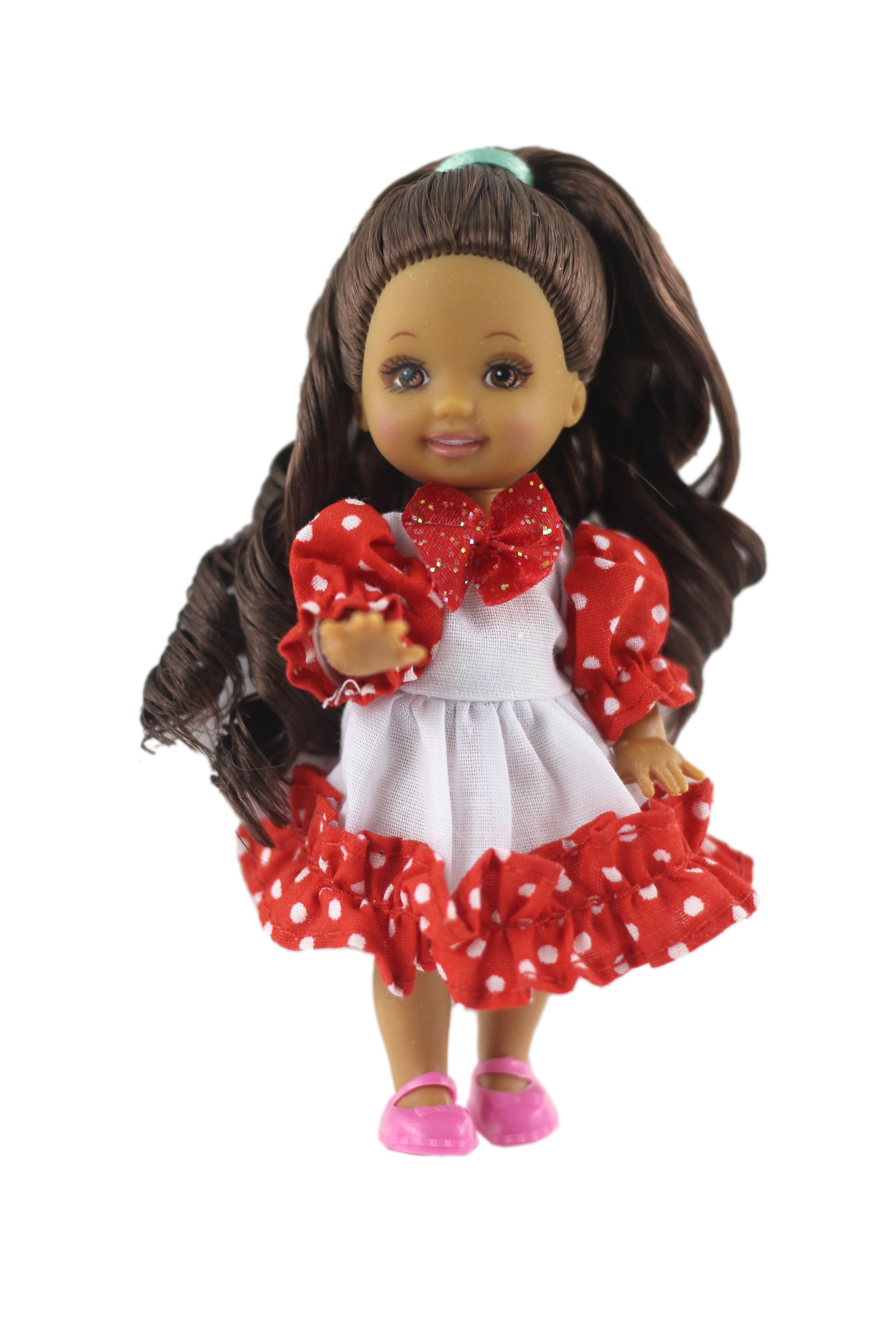 NK One Pcs Cute Mini Doll Dress Daily Wear Gown Clothes For Barbie Sister Kelly Doll Accessories Dollhouse Toys 04A 10X