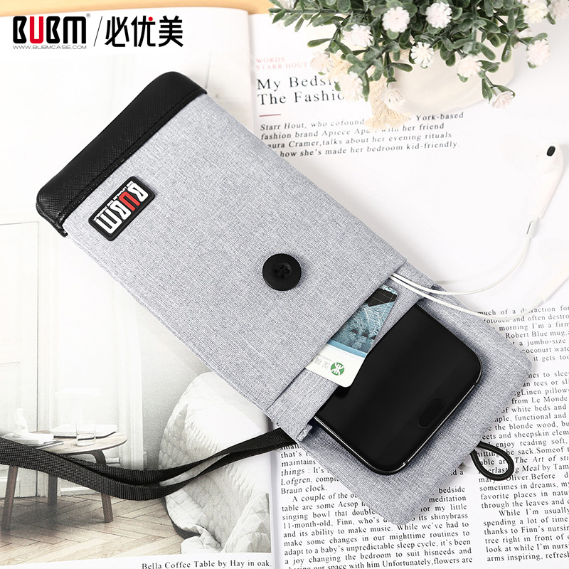 BUBM Casual Fashion Cell Phone Neck Pouch Crossbody Bag  With Credit Card Holder For All Phone Models