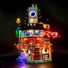 Новые Строительные блоки NINJAGOed город с 70620 с светильник в наличии Кирпичи игрушки для мальчиков и девочек Подарки