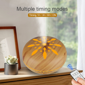 Image 4 - 500ml Electric Aroma Essential Oil Diffuser wood Ultrasonic Air Humidifier cool Mist Maker LEDLight Fogger Aromatherapy for home