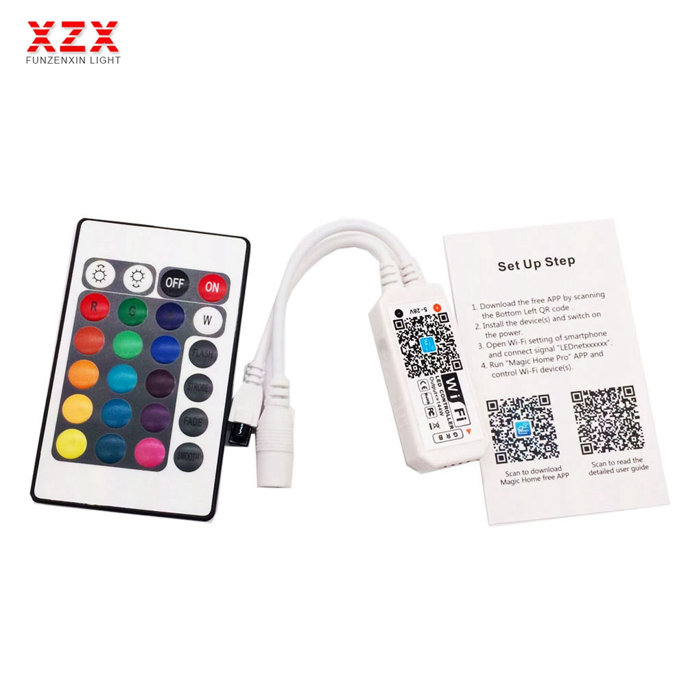 Mini RGB Wifi Controller Magic Home For Led Strip Panel light Timing Function 16million colors Smartphone Control DC12V