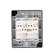 Two-position waterproof switch with exposed splash-proof and dust-proof single wall and double bathroom
