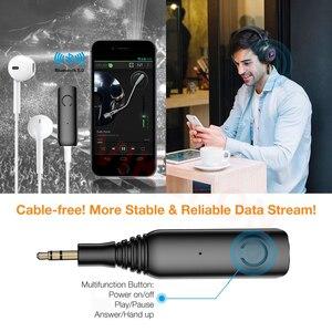 Image 4 - Ricevitore Bluetooth APTX LL 3.5 millimetri AUX Martinetti RCA Adattatore Wireless e Microfono Chiamata in Vivavoce Per Auto Trasmettitore Bluetooth 5.0 Audio ricevitore