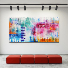 Colorful Oil Painting Abstract Art Big Size Canvas Oil Painting for Living Room Home Decor Modern Decoration Art Drop shipping big size canvas art painting handpainted oil painting modern home decoration dropship oil painting wall art picture room decora