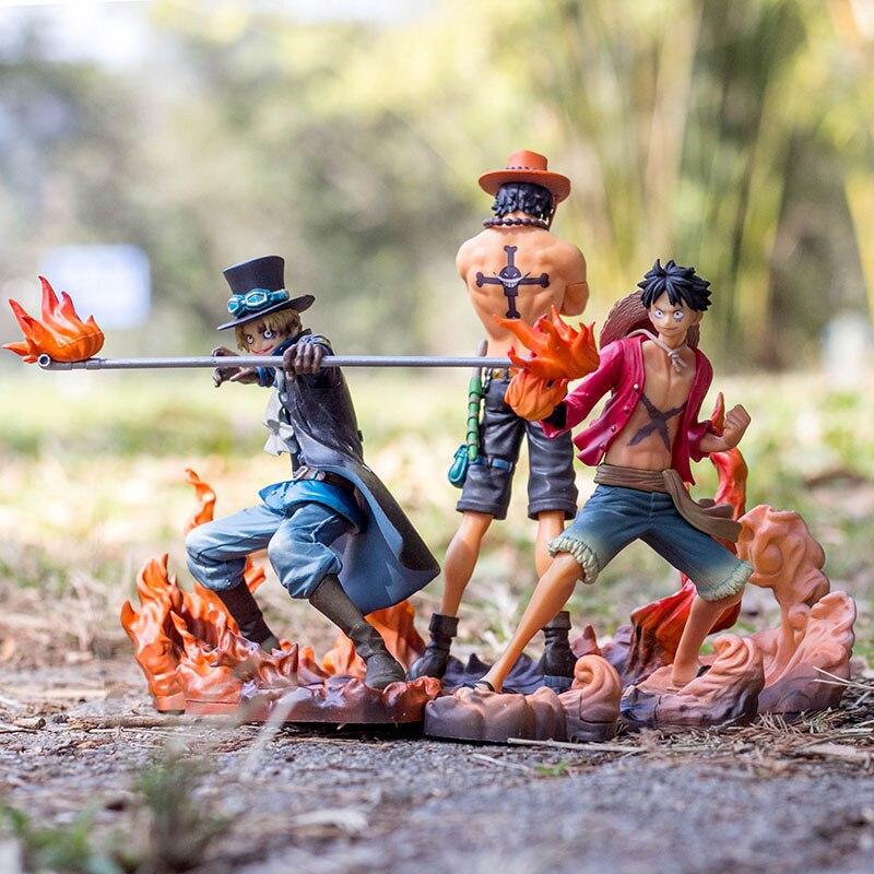 3 unids/set Anime una pieza hermandad D Luffy nace Portgas D as Sabo figuras de PVC juguetes de modelos coleccionables