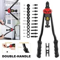 Easy Automatic Rivet Tool Set Manual Riveting Tool Pull Cap Heavy Duty Hand Riveter Hand Tool Sets
