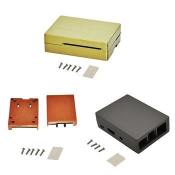 Aluminum Copper Case Metal Enclosure Cover Shell for Raspberry Pi 3/2 Model B/B+