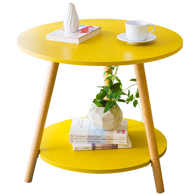 Tea Table Simple Modern Mini Small Round Table Side Several Sofa Side Cabinet Corner Several Bedside Table Simple