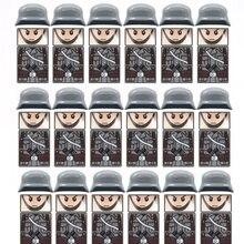 18 unidades/lotes travamento ww2 soldado exército alemão tropa militar swat equipe arma construção mini blocos tijolos figuras brinquedos educativos