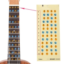 Ukulele Musical Scale Stickers Music Note Map Stickers Fingerboard Frets Decals for Beginner Practice Ukulele Label Decals