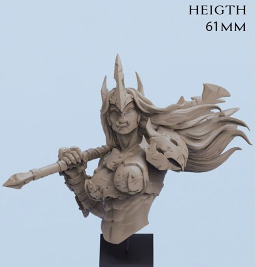 1/12  Anicent Woman Warrior Bust (NO BASE )  Resin Figure Model Kits Miniature Gk Unassembly Unpainted