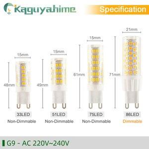 Image 3 - Kaguyahime 5PCS/LOT LED G9 G4 E14 Lamp bulb Dimmable bulb 3w 5w 9w AC 220V DC 12V SMD2835 COB G4 LED G9 Lamp Replace Halogen