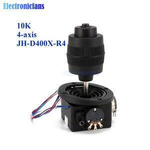 Прочная пластиковая 4-осевая Кнопка потенциометра для джойстика для черного цвета с проводом, 10K 4D, с автоматическим управлением машины