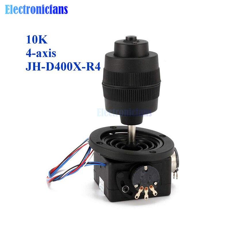 Botão plástico durável do potenciômetro do joystick de 4 eixos para o preto JH-D400X-R4 10 k 4d com controle da máquina da automatização do fio