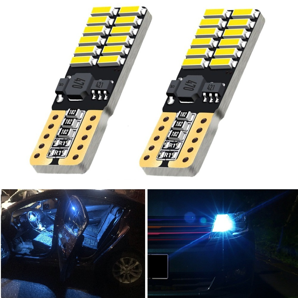 OXILAM 2x Canbus T10 <font><b>LED</b></font> Car Parking Light 12V For <font><b>Renault</b></font> Duster Megane 2 3 Logan Clio 4 2 <font><b>Captur</b></font> Sandero Laguna 2 Scenic image