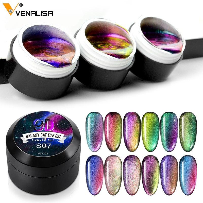 Магнитный Гель-лак Venalisa 9d кошачьи глаза дизайн ногтей маникюр 7,5/5 мл отмачиваемый эмалированный УФ-гель для ногтей лак