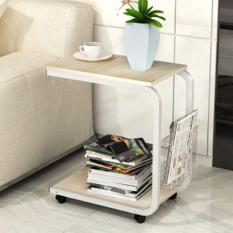 Moderna simplicidad dormitorio sala de estar mesa de noche móvil Mini sofá cama gabinete mesa de centro pequeña