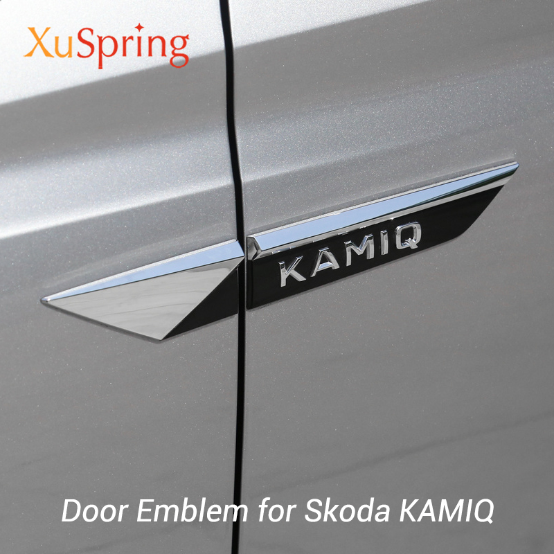 For Skoda KAMIQ 2019 2020 Original Wing Door Side Fender Emblem Badge Sticker Trim Chrome Car Styling Accessories