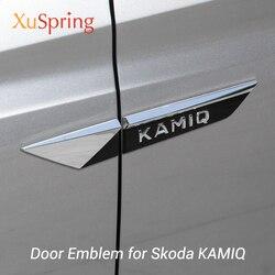 Voor Skoda Kamiq 2019 2020 Originele Wing Deur Side Fender Embleem Badge Sticker Trim Chrome Auto Styling Accessoires