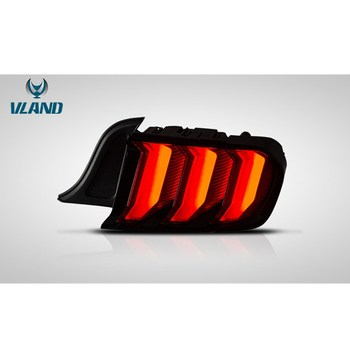 VLAND Factory New Design FOR Mustang Taillights 2015-2019 for Europe version LED Tail Light and Yellow Turn Signal
