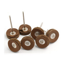 1pcs 2.35mm Shank Cowhide Leather Grinding Head Polishing Buffing Wheel Amber Bright Mirror Pad Disk Jade Rotary Polish Tools(China)