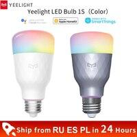 Xiaomi-bombilla LED inteligente Yeelight 1s, colorida, 800 lúmenes, 10W, E27 Lemon, lámpara inteligente para la aplicación de hogar inteligente, opción Blanco/RGB