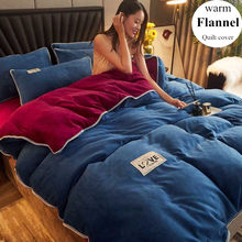 Wostar inverno quente sólida flanela colcha capa super macio acolhedor adulto crianças king size conjunto de cama de luxo casa têxtil (sem fronha)