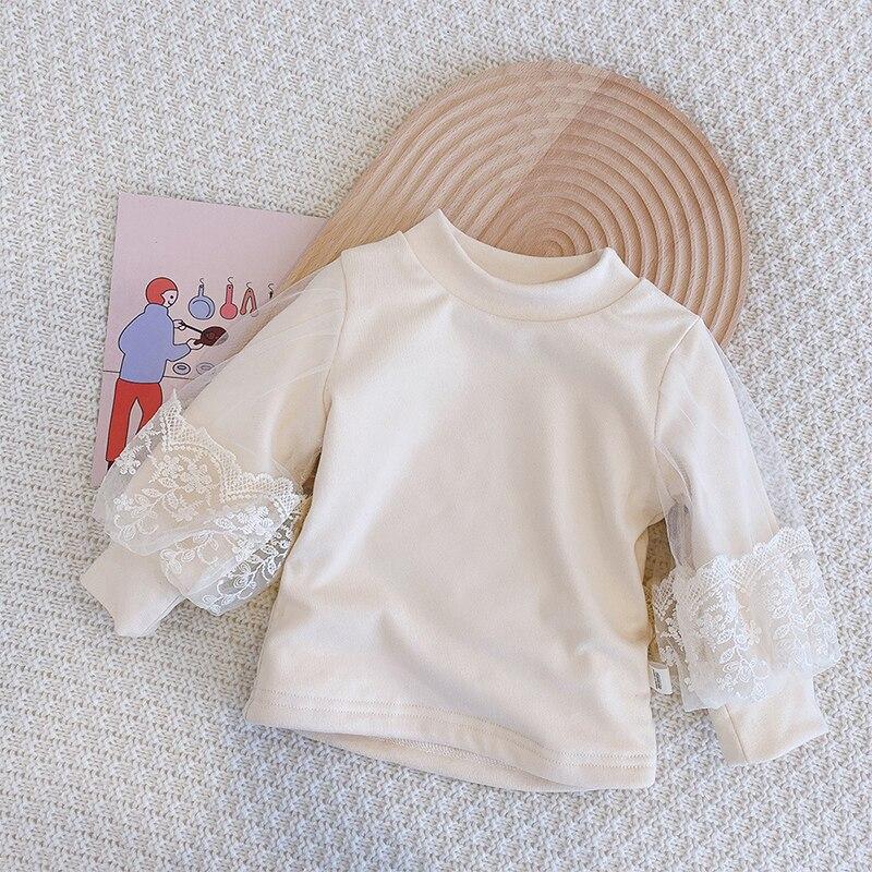 New Baby Girls Clothes Autumn Winter Turtleneck Princess Sweaters Puff Lantern Sleeve Pullovers Kids Tops Warm Children Korean 4