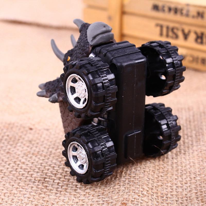 Makinë për fëmijë tërheq lodër makine dinosauri me rrota të - Makina lodër për fëmije - Foto 3