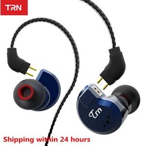 Image 1 - TRN auriculares internos híbridos V80 2DD 2BA, auriculares HIFI Monito para correr, deportivos, con Cable desmontable, ZST V30 ES4 V90 BA5